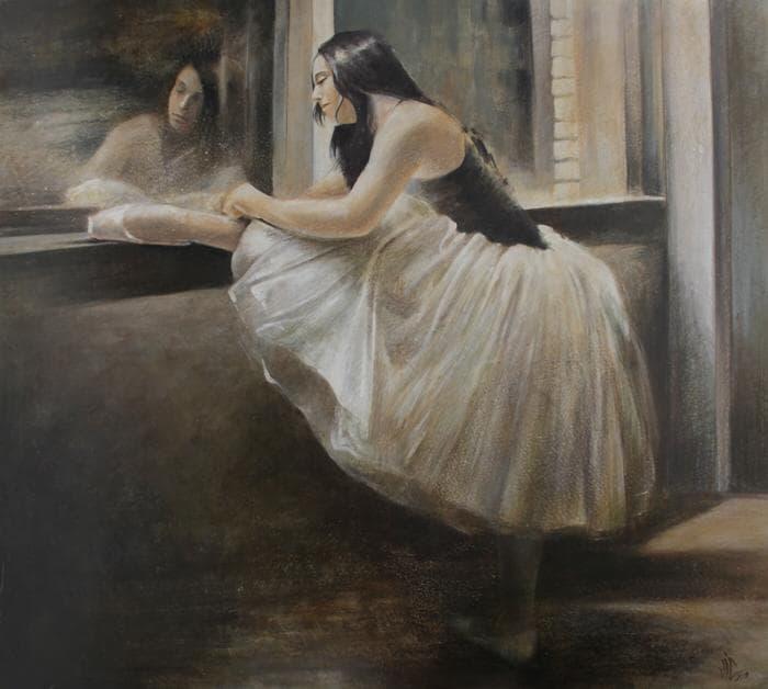 Vali Irina Ciobanu pictura- balerina