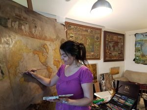 Vali Irina Ciobanu pictor harta cailor - hartavinului