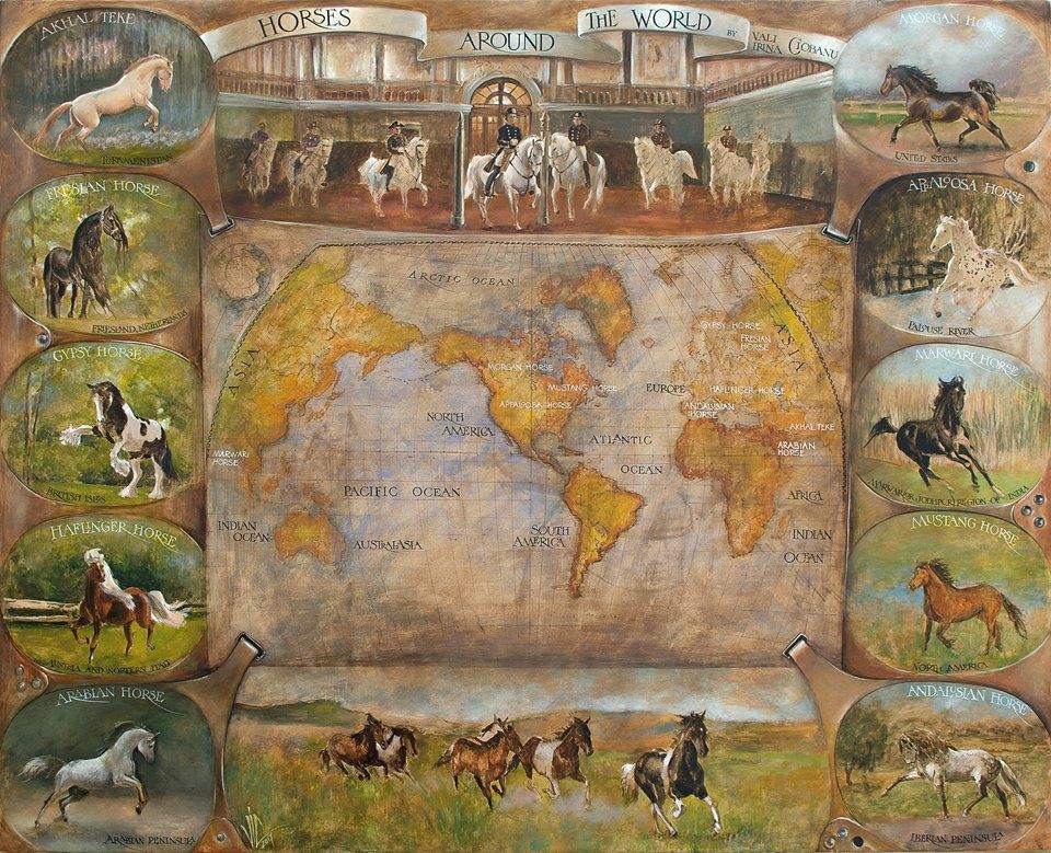 vali Irina Ciobanu - pictura - harta raselor de cai