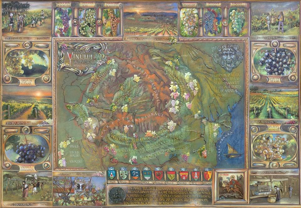 Vali Irina Ciobanu - pictor harta vinului - pictura pe piele